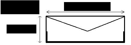 定型封筒のサイズ