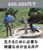 生きるのに必要なきれいな水が出る井戸